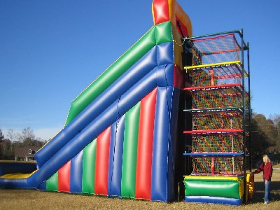 Spider Zone Climb with Inflatable Slide